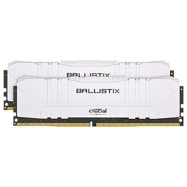 Ballistix White 16 Go (2 x 8 Go) DDR4 3600 MHz CL16 Kit Dual Channel RAM DDR4 PC4-28800 - BL2K8G36C16U4W