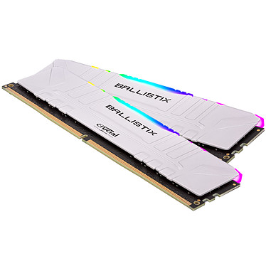 Ballistix White RGB DDR4 64 Go (2 x 32 Go) 3600 MHz CL16 Kit Dual Channel RAM DDR4 PC4-28800 - BL2K32G36C16U4WL