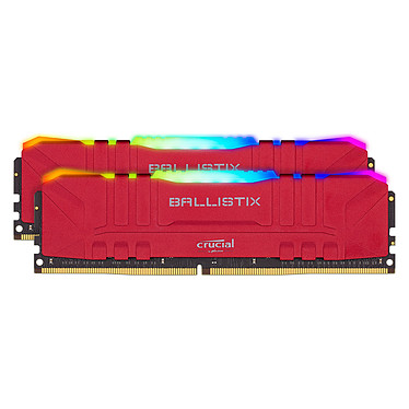Ballistix Red RGB DDR4 16 Go (2 x 8 Go) 3200 MHz CL16 Kit Dual Channel RAM DDR4 PC4-25600 - BL2K8G32C16U4RL