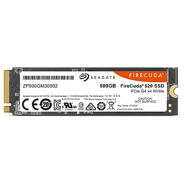 Acheter Seagate SSD FireCuda 510 M.2 PCIe NVMe 500 Go