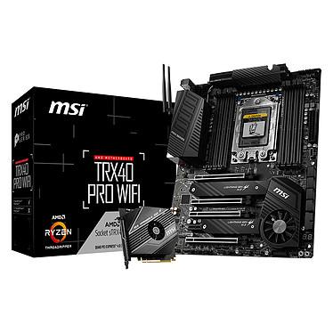 MSI TRX40 PRO WIFI Carte mère ATX Socket sTRx4 AMD TRX40 - 8x DDR4 - SATA 6Gb/s + M.2 - USB 3.2 2x2 - Wi-Fi 6 AX/Bluetooth 5.0 - 4x PCI-Express 4.0 16x
