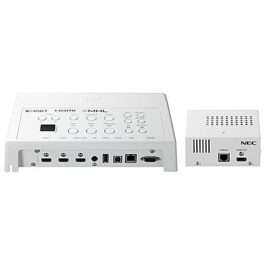 NEC NP01SW2 Sélecteur d'interface HDBaseT avec ports HDMI, USB et RJ45 pour vidéoprojecteur et écran dynamique