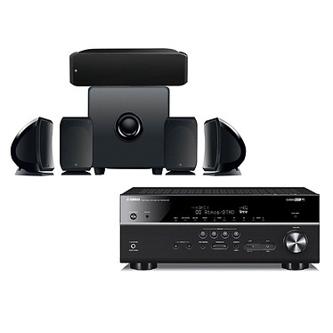 Yamaha HTR-6072 Noir + Focal Pack Cinema+ Ampli-tuner Home Cinéma (equiv : RX-V685) 7.2 3D 90 W/canal - Dolby Atmos / DTS:X - 5 entrées HDMI 2.0 HDCP 2.2 - HDR - Bluetooth/Wi-Fi/AirPlay - MusicCast - Calibration YPAO - Zone 2 + Ensemble 5.1