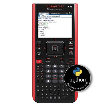 Texas Instruments TI-Nspire CX II-T CAS Calculatrice graphique formelle avec touchpad, écran couleur, mode examen et application Python intégrée