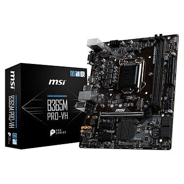 MSI B365M PRO-VH Carte mère Micro ATX Socket 1151 Intel B365 Express - 2x DDR4 - SATA 6Gb/s + M.2 - USB 3.0 - 1x PCI-Express 3.0 16x