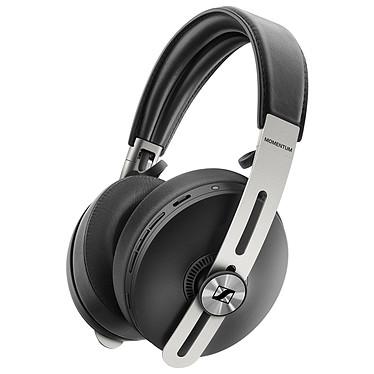 Sennheiser Momentum Wireless 3 Noir Casque circum-aural sans fil haut de gamme - Réduction de bruit active - Bluetooth 5.0 aptX - NFC - Autonomie 17h - Commandes/Micro - Pliable - Cuir véritable