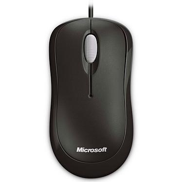 Microsoft Basic Optical Mouse Negro Ratón con cable, ambidiestro, sensor óptico, 3 botones