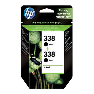 HP 338 Pack de 2 Noir (CB331EE) Pack de 2 cartouches d'encre noire