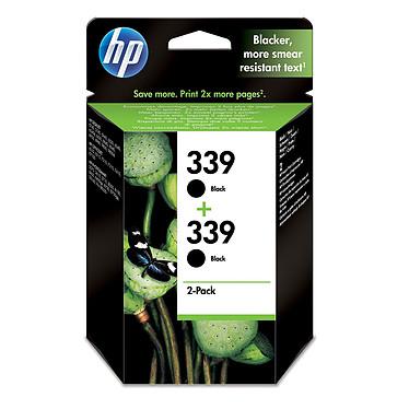 HP 339 - C9504EE Pack de 2 cartouches d'encre noire