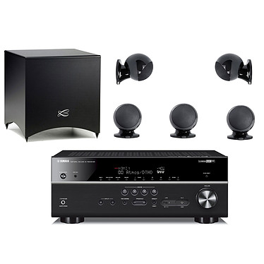 Yamaha HTR-6072 Noir + Cabasse Alcyone 2 Pack 5.1 Noir Ampli-tuner Home Cinéma (equiv : RX-V685) 7.2 3D 90 W/canal - Dolby Atmos / DTS:X - 5 x HDMI - HDR - Bluetooth/Wi-Fi/AirPlay - MusicCast - Calibration YPAO - Zone 2 + Ensemble 5.1