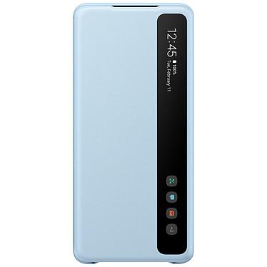 Samsung Clear View Cover Bleu Galaxy S20+ Etui à rabat avec affichage date/heure et fonction stand pour Samsung Galaxy S20+