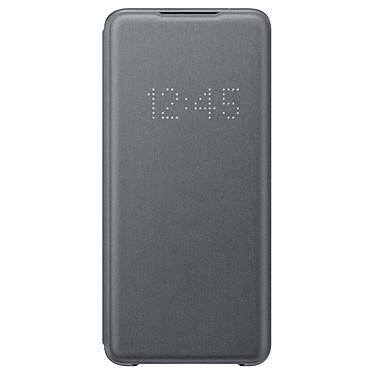 Samsung LED View Cover Gris Galaxy S20 Ultra Etui à rabat avec affichage LED date/heure pour Samsung Galaxy S20 Ultra