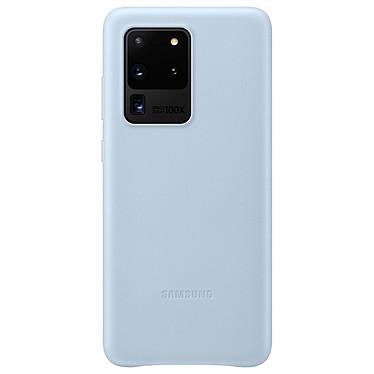 Samsung Coque Cuir Bleu Samsung Galaxy S20 Ultra Coque en cuir véritable pour Samsung Galaxy S20 Ultra