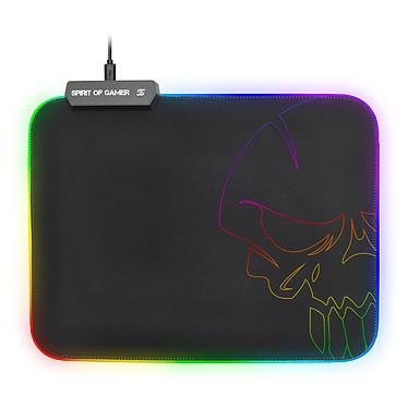 Spirit of Gamer Skull RGB Gaming Mouse Pad M Tapis de souris pour gamer avec rétro-éclairage multicolore (Taille M)