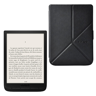 """Vivlio InkPad 3 + Pack d'eBooks OFFERT + Housse noire Liseuse eBook Wi-Fi - Écran tactile HD 7.8"""" 1404 x 1872 - 8 Go - MicroSD - Portrait/Paysage - Pack eBooks offert + Housse de protection"""