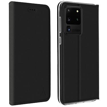 Akashi Etui Folio Noir Galaxy S20 Ultra Etui folio avec porte carte pour Samsung Galaxy S20 Ultra