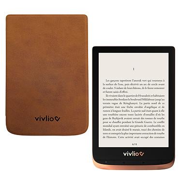 """Vivlio Touch HD Plus Cuivre/Noir + Pack d'eBooks OFFERT + Housse Marron Liseuse eBook Wi-Fi - Écran tactile HD 6"""" 1072 x 1448 - 16 Go - Portrait/Paysage - Résistante à l'eau - Pack eBooks offert + Housse de protection"""