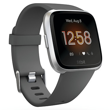 Fitbit Versa Lite Charbon Montre connectée GPS avec capteur cardiaque, écran couleur tactile, Bluetooth, NFC compatible iOS, Android
