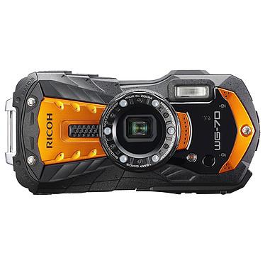 Ricoh WG-70 Orange Appareil photo baroudeur 16 MP - Zoom optique grand-angle 5x - Vidéo Full HD - Étanche 14 m - Eclairage LED