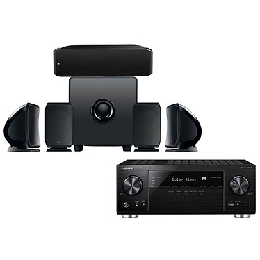 Pioneer VSX-933 Noir + Focal Pack Cinema+ Ampli-tuner Home Cinéma 7.2 Multiroom, Dolby Atmos, DTS:X, HDMI 4K Ultra HD, HDCP 2.2, HDR HLG, Hi-Res Audio, Wi-Fi Dual Band, Bluetooth, Chromecast, DTS Play-Fi, AirPlay + Ensemble 5.1