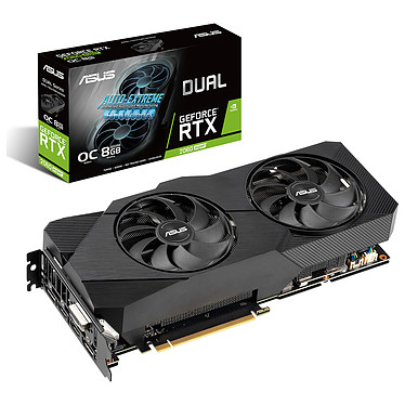 ASUS GeForce RTX 2060 SUPER DUAL-RTX2060S-O8G-EVO-V2 8 GB GDDR6 - Dual HDMI/DisplayPort/DVI - PCI Express (NVIDIA GeForce RTX 2060 SUPER)