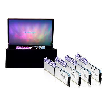 G.Skill Trident Z Royal Collector Edition 32 Go (4x 8 Go) DDR4 3200 MHz CL14 - Argent Kit Quad Channel 4 barrettes de RAM DDR4 PC4-25600 - F4-3200C14Q-32GTRSU avec LED RGB