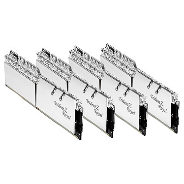 Acheter G.Skill Trident Z Royal Collector Edition 32 Go (4x 8 Go) DDR4 3200 MHz CL14 - Argent
