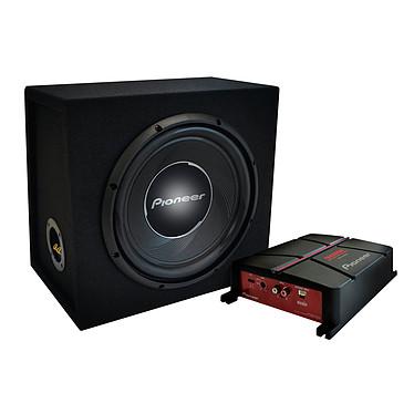 Pioneer GXT-3730B-SET Pack Amplificateur pontable 2 canaux (500W) avec filtre passe-bas + Subwoofer 30 cm