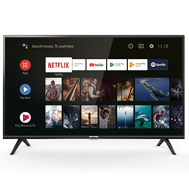 "TCL 40ES563 Téléviseur LED Full HD 40"" (102 cm) 16/9 - 1920 x 1080 pixels - HDR - Android TV - Wi-Fi - 400 Hz - Son 2.0 16W"