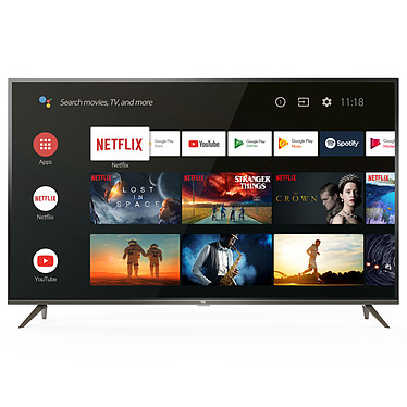 "TCL 50EP640 TV LED 4K Ultra HD 50"" (127 cm) 16/9 - 3840 x 2160 píxeles - HDR - TV Android - Wi-Fi - Bluetooth - 1200 Hz - Sonido 2.0 16W"