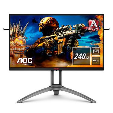 "AOC 27"" LED - AGON AG273QZ 2560 x 1440 píxeles - 0,5 ms (MPRT) - formato 16/9 - panel TN - 240 Hz - HDR - FreeSync Premium Pro - Pivote - HDMI/DP - Hub USB 3.0 - Plata/Negro"