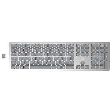 Mobility Lab Premium Wireless Slim Keyboard (Gris Clair) Clavier sans fil 2.4 GHz - touches chiclet plates - compatible Windows - AZERTY, Français