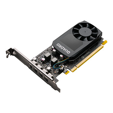 NVIDIA Quadro P620 V2 2 Go GDDR5 - 4 x Mini DisplayPort - PCI Express 3.0 x16 + 4 adaptateurs vers DisplayPort (NVIDIA Quadro P620)