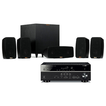 Yamaha HTR-4072 Noir + Klipsch Reference Theater Pack Ampli-tuner Home Cinéma 5.1 (equiv RX-V485) 3D 80 W/canal - Dolby TrueHD / DTS-HD Master Audio - 4x HDMI - HDR 10/Dolby Vision/HLG - Bluetooth/Wi-Fi/AirPlay - MusicCast - YPAO + Ensemble 5.1