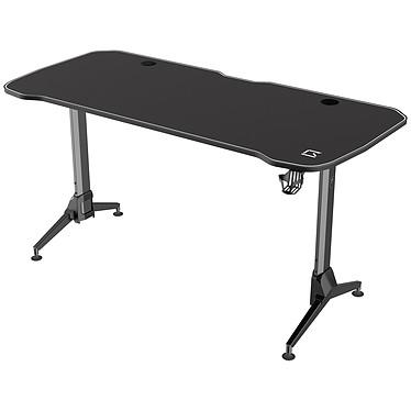 REKT R-Desk Max 160 Bureau pour gamer - longueur 160 cm - profondeur 75 cm - hauteur réglable manuellement 70-80 cm - structure en métal - système de passage des câbles - repose casque et port gobelet