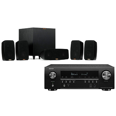 Denon AVR-S750H + Klipsch Reference Theater Pack Ampli-tuner Home Cinema 7.2 - 140W/canal - Dolby Atmos / DTS:X - 6x HDMI 4K UHD, HDCP 2.3, HDR - Wi-Fi, Bluetooth, AirPlay 2 - Multiroom - Amazon Alexa / Google Assistant + Ensemble 5.1