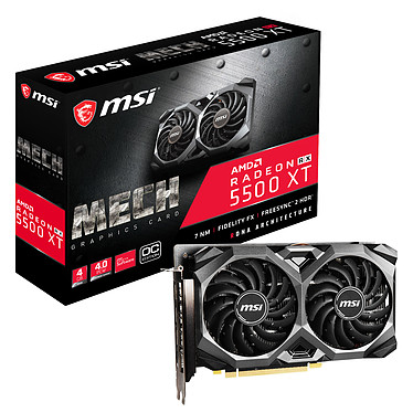 MSI Radeon RX 5500 XT MECH 4G OC 4 Go GDDR6 - HDMI/Tri DisplayPort - PCI Express (AMD Radeon RX 5500 XT)