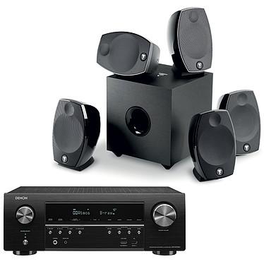 Denon AVR-S750H + Focal Sib Evo 5.1 Ampli-tuner Home Cinema 7.2 - 140W/canal - Dolby Atmos / DTS:X - 6x HDMI 4K UHD, HDCP 2.3, HDR - Wi-Fi, Bluetooth, AirPlay 2 - Multiroom - Amazon Alexa / Google Assistant + Ensemble 5.1
