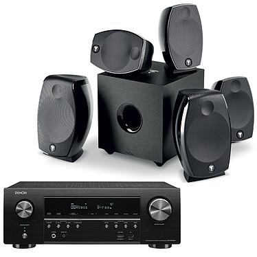Denon AVR-S750H + Focal Sib Evo 5.1.2 Dolby Atmos Ampli-tuner Home Cinema 7.2 - 140W/canal - Dolby Atmos / DTS:X - 6x HDMI 4K UHD, HDCP 2.3, HDR - Wi-Fi, Bluetooth, AirPlay 2 - Multiroom - Amazon Alexa / Google Assistant + Ensemble 5.1.2 Dolby Atmos