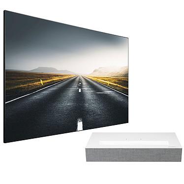 LG HU85LS + Lumene Movie Palace UHD 4K Extrabright 200C Video proyector láser DLP 4K UHD - 2700 lúmenes - HDR10 - Distancia focal ultracorta - Miracast - webOS 4.5 - Audio Bluetooth - HDMI/USB-C - Altavoces integrados + Pantalla fija en el marco - Formato 16:9 - 203 x 115 cm - Lienzo ALR