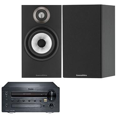Magnat MC 200 + B&W 607 Noir Micro-chaîne 2 x 35 Watts - Lecteur CD/MP3/WMA - Tuner FM/DAB+ - Hi-Res Audio - Bluetooth aptX - Wi-Fi/Ethernet + Enceinte bibliothèque 2 voies 100W (par paire)