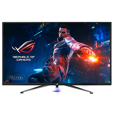 "ASUS 43"" LED - ROG Swift PG43UQ 3840 x 2160 píxeles - 4 ms (gris a gris) - Formato ancho 16/9 - Panel VA - 144 Hz - HDR - Adaptive Sync / G-Sync Compatible - RGB - DisplayPort/HDMI - Negro"