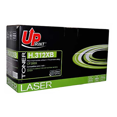 UPrint H.312XB BK (Noir) Toner noir compatible HP 312A (4400 pages à 5%)