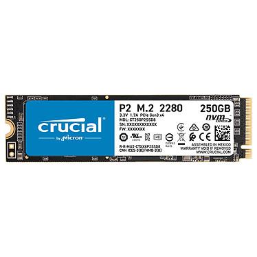 Crucial P2 M.2 PCIe NVMe 250 Go SSD 250 Go 3D NAND M.2 2280 NVMe - PCIe 3.0 x4