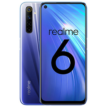 "Realme 6 Blue (4 GB / 128 GB) Smartphone 4G-LTE Advanced Dual SIM - MediaTek Helio G90T 8-Core 2.05 GHz - 4 GB RAM - 6.5"" IPS Touch Screen 1080 x 2400 - 128 GB - NFC/Bluetooth 5.0 - 4300 mAh - Android 10"