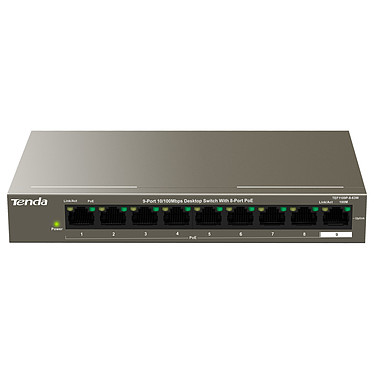 Tenda TEF1109P-8-63W Switch non manageable 9 ports 10/100 Mbps dont 8 PoE+