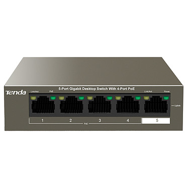 Tenda TEG1105P-4-63W Switch non manageable 5 ports 10/100/1000 Mbps PoE+