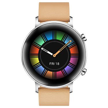 Huawei Watch GT 2 (42 mm / Cuir / Marron)