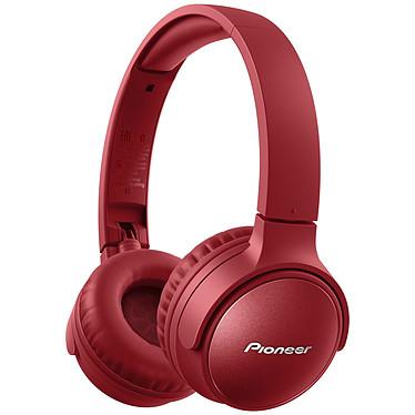 Pioneer SE-S6BN Rouge Casque supra-aural sans fil - Réduction de bruit active - Bluetooth 5.0 - Commandes/Micro - Autonomie 30h - Design pliable