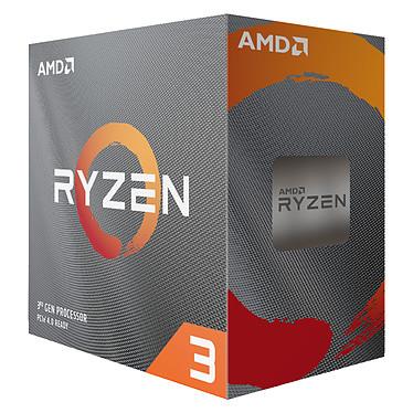 AMD Ryzen 3 3100 Wraith Stealth (3.6 GHz / 3.9 GHz) Processeur Quad-Core 8-Threads socket AM4 GameCache 18 Mo 7 nm TDP 65W avec système de refroidissement (version boîte - garantie constructeur 3 ans)